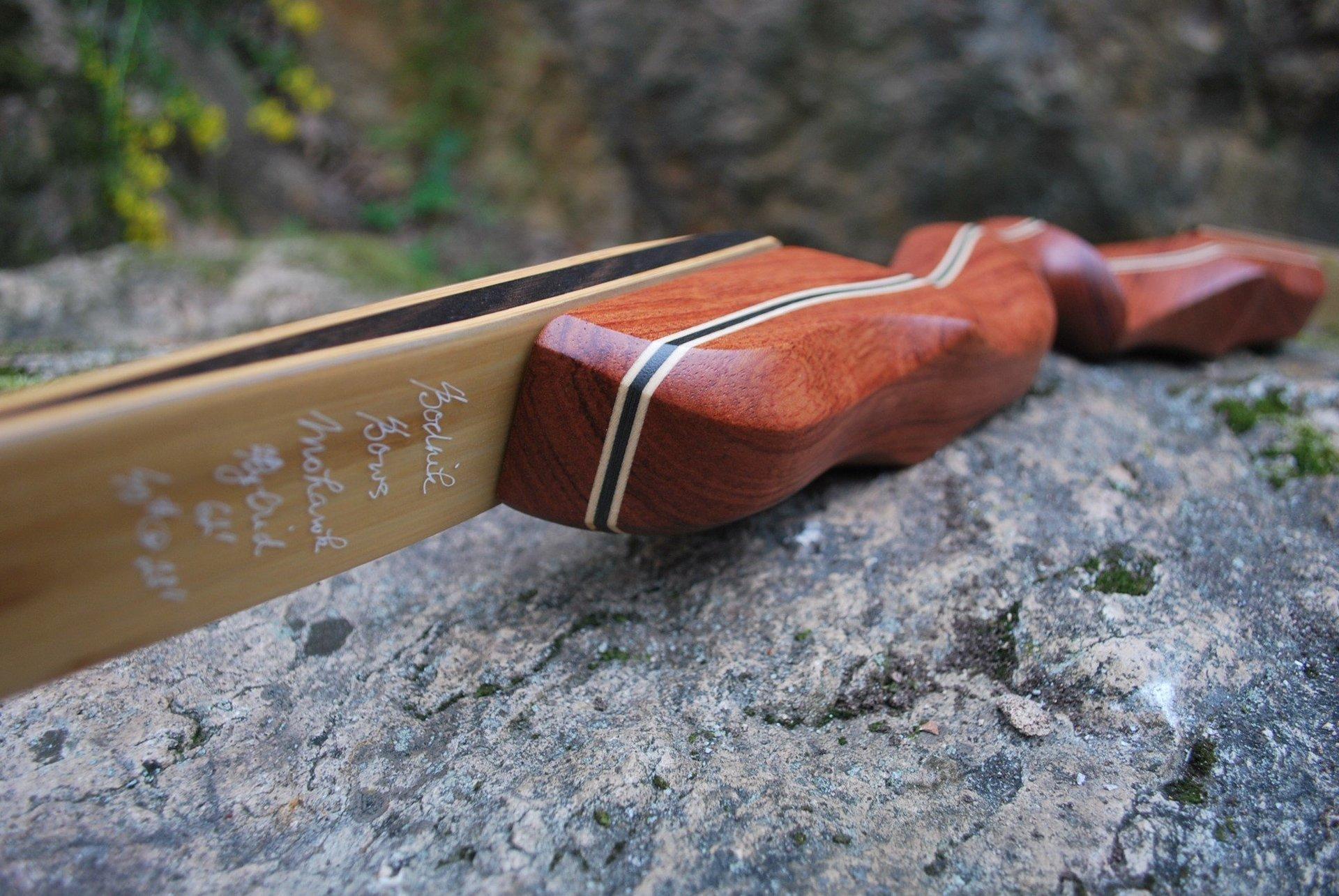 Bodnik Bows Mohawk in aktueller Optik mit Bubinga und Räuchereiche