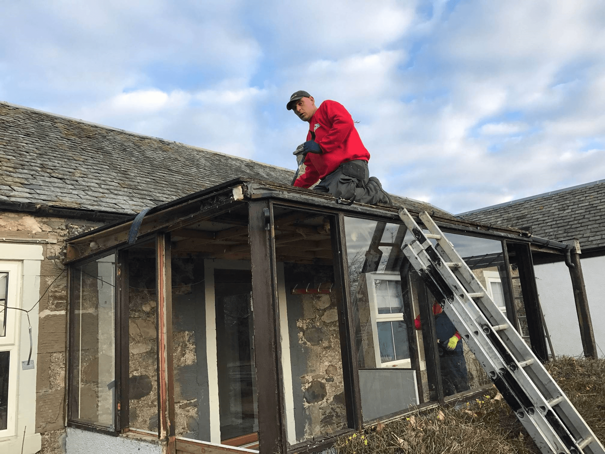 temporary roofing solution