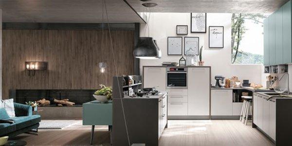 salotto e cucina nello stesso ambiente