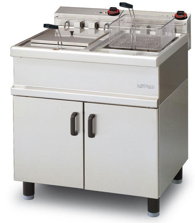 Friggitrice professionale doppia a due vasche