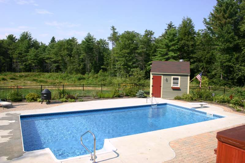 The Pool Shed Swimming Pools For Maine In Ground Pools Pool Maintenance Pool Service