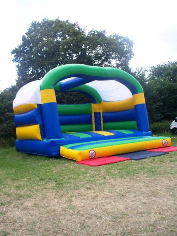 18ft Wide x 18ft Deep Adult Bouncy Castle (Side View)