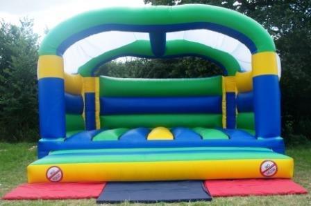 18ft Wide x 18ft Deep Adult Bouncy Castle (Front View)