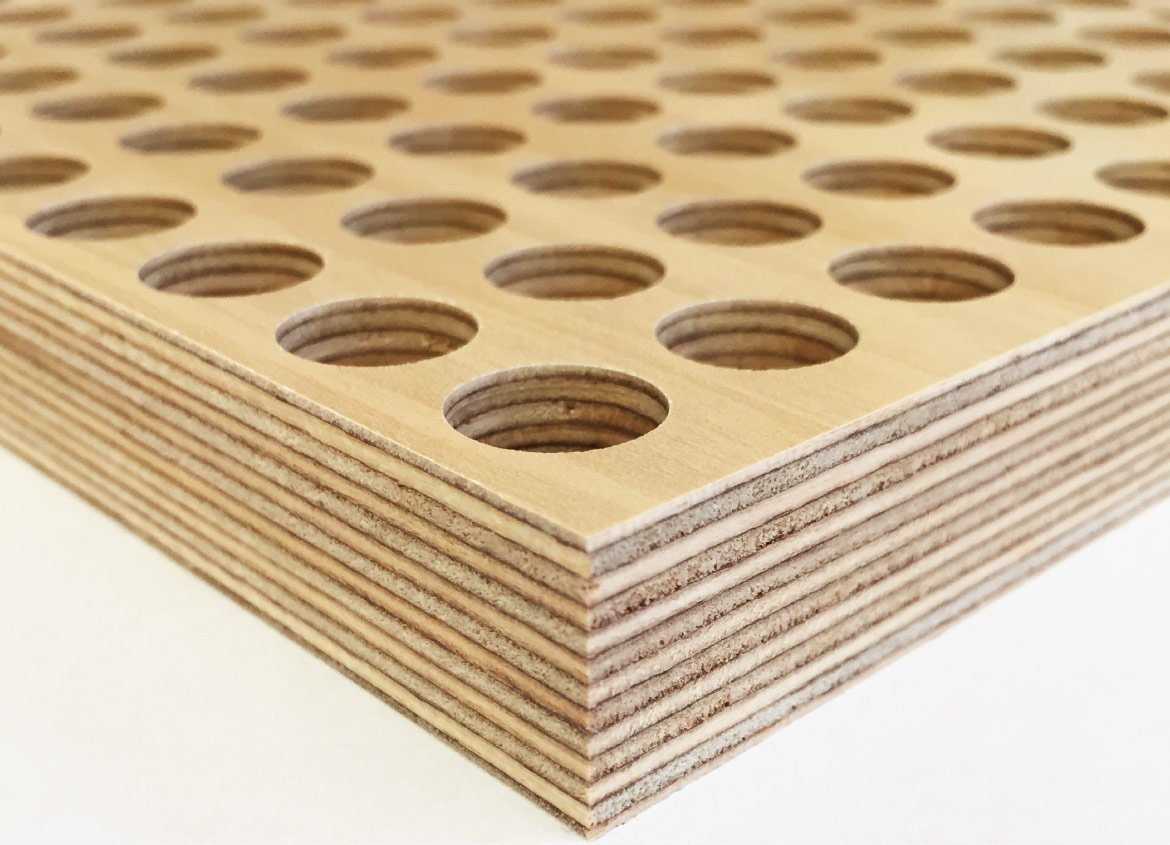 Acoustic panels perforated plywood for Birch wood cost