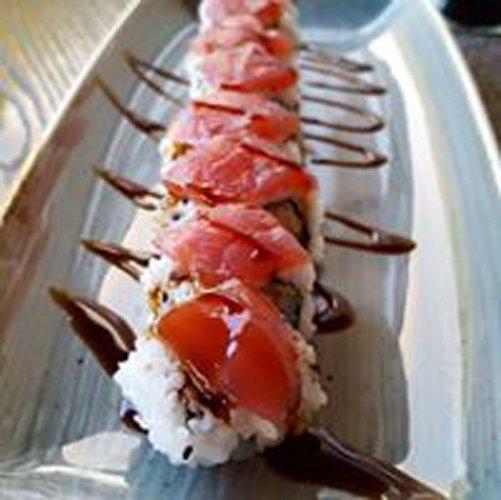 vassoio con sushi