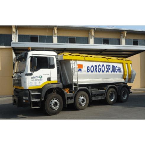 automezzi trasporto materiali, camion di grosse dimensioni, spurghi