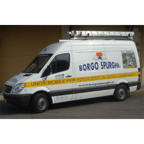 furgone borgo spurghi, interventi, unità mobile