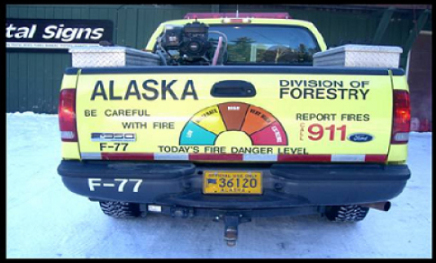 An example of our work with custom vehicle graphics in Fairbanks, AK