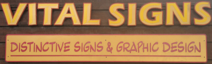 One of our custom signs in wood in Fairbanks, AK