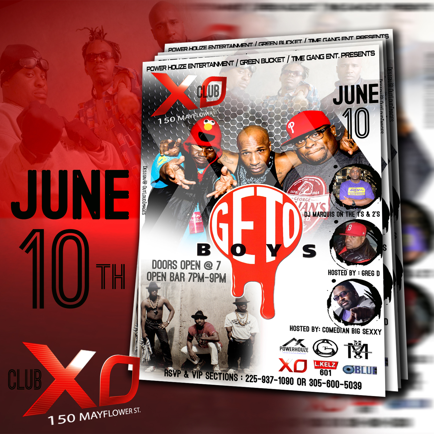 club xo event flyer