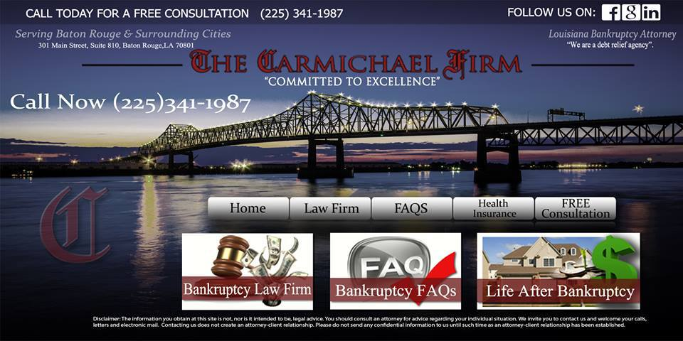 The Carmichael Home Page Screen Shot