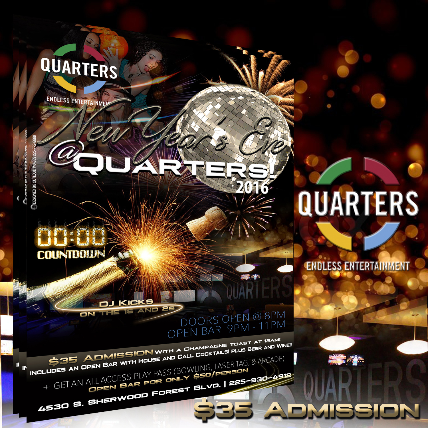 Quarters NYE Flyer
