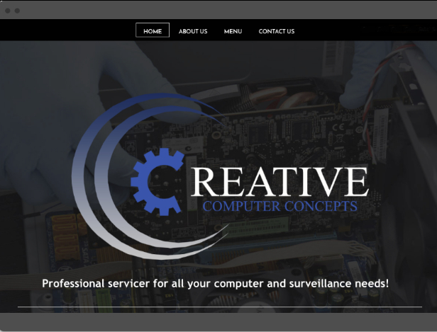 Creative Computer Concepts Home Page Screen Shot