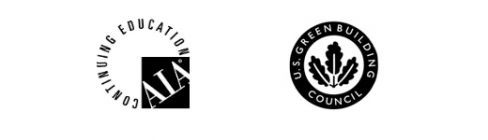 AIA Condinuing education and Green Building council logos