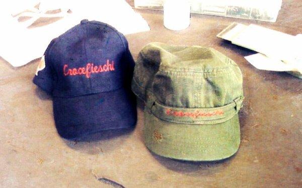 ricamo su cappello