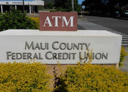 Maui County Federal Credit Union sign