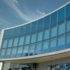 pulizia di vetrate ad alta quota