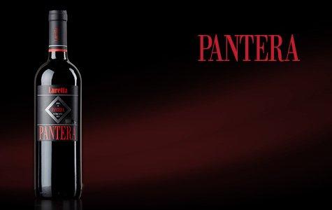 bottiglia di vino pantera