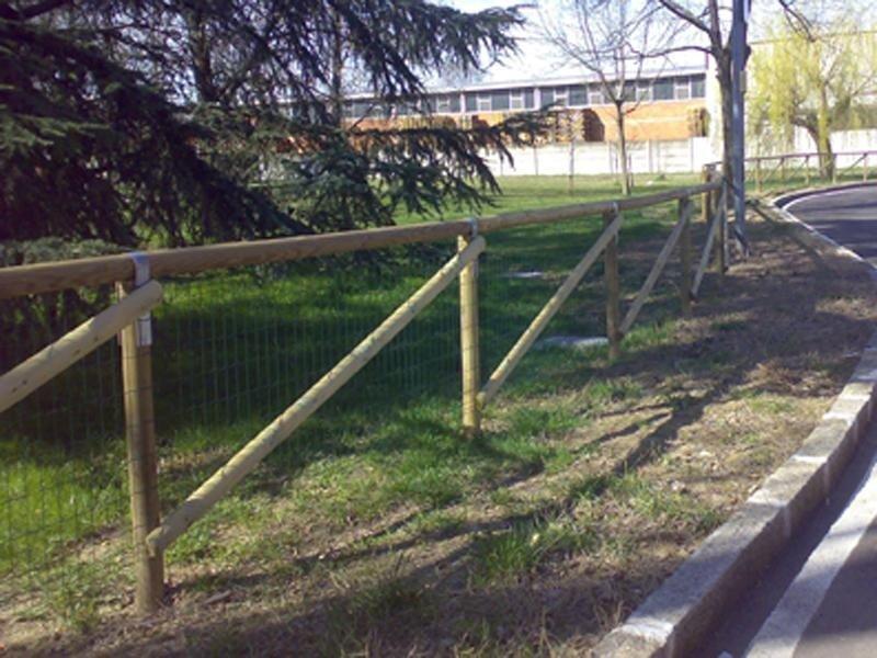 recinzione parco legno