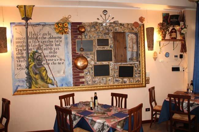 Tavolo in sala interna di un ristorante