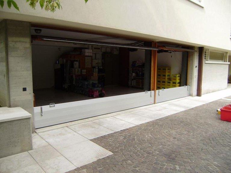 garage doppio con paratia
