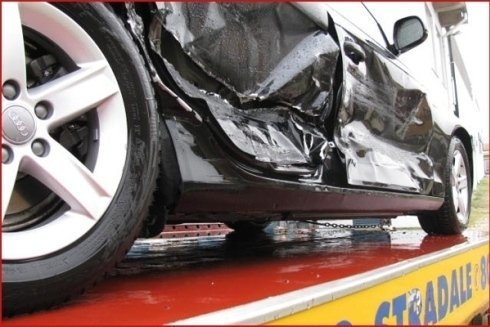 fiancata auto incidentata