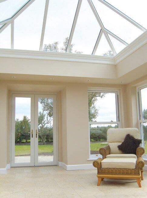 white u p v c conservatory