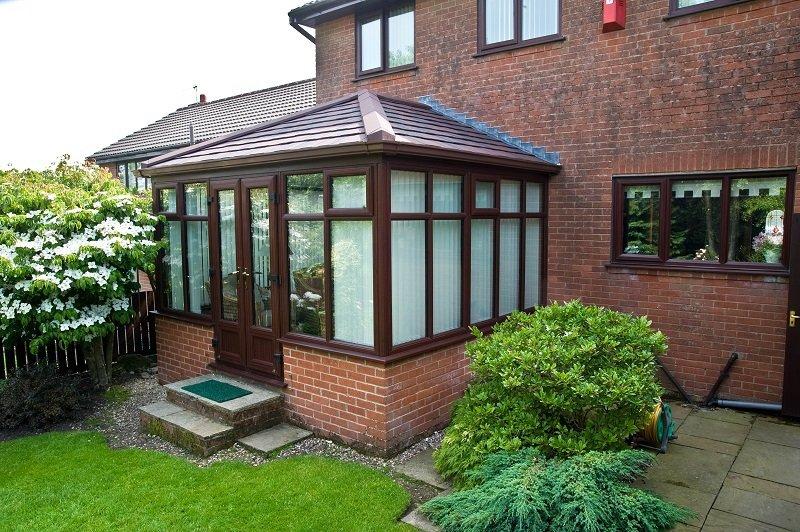 Wood-effect u P V C conservatory