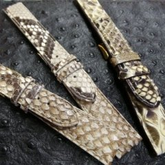 Cinturini in pitone, pelle di serpente, pelle esotiche