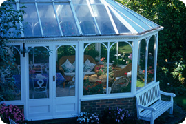 Large, white uPVC conservatory