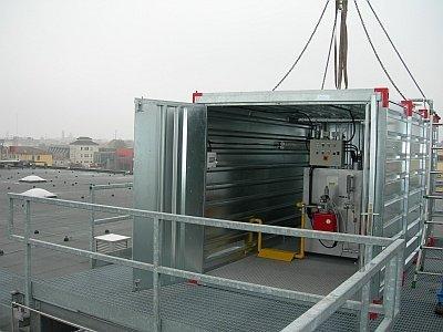 Container nella barca