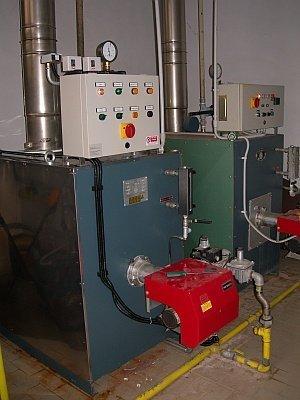impianto stiro maglificio CORINI 2 caldaie da 115 Kw cad
