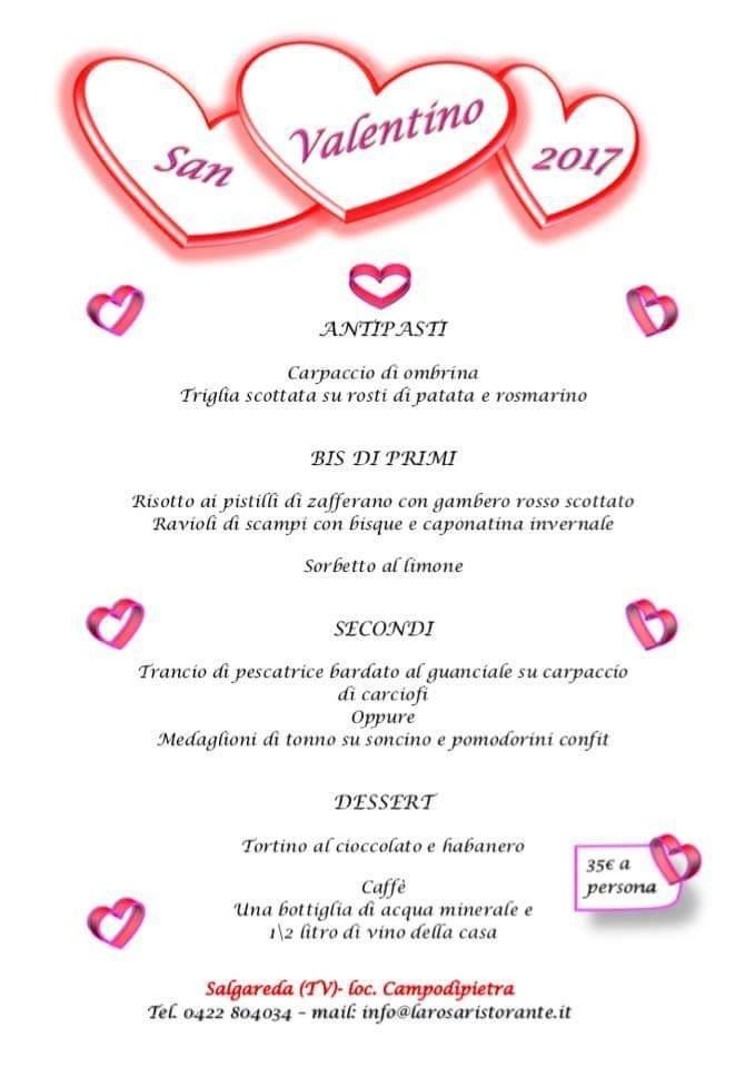 San Valentino, Menù, Pesce, 14 febbraio