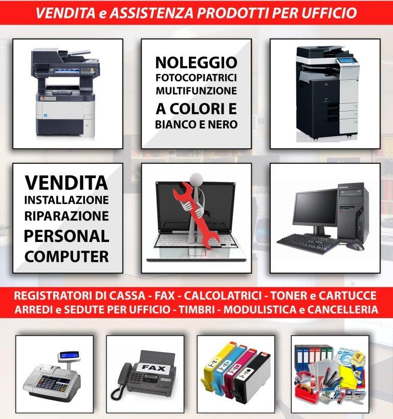 Registratori di cassa, stampanti, fax, riparazione PC