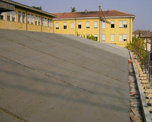 un tetto impermeabilizzato