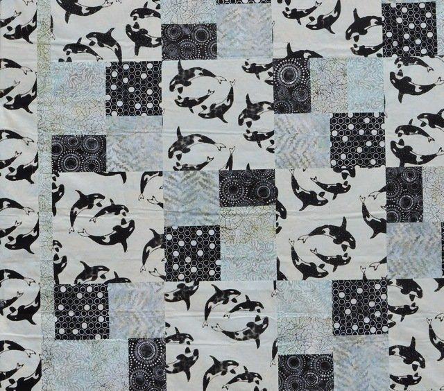 killer whale quilt