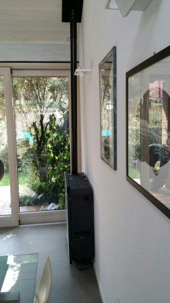 stufa moderna in appartamento