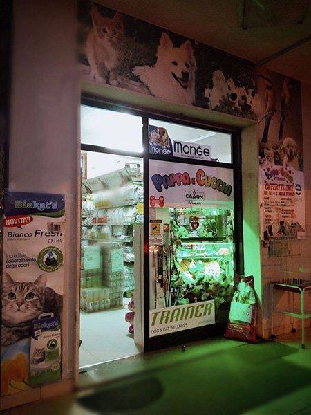 facciata negozio animali