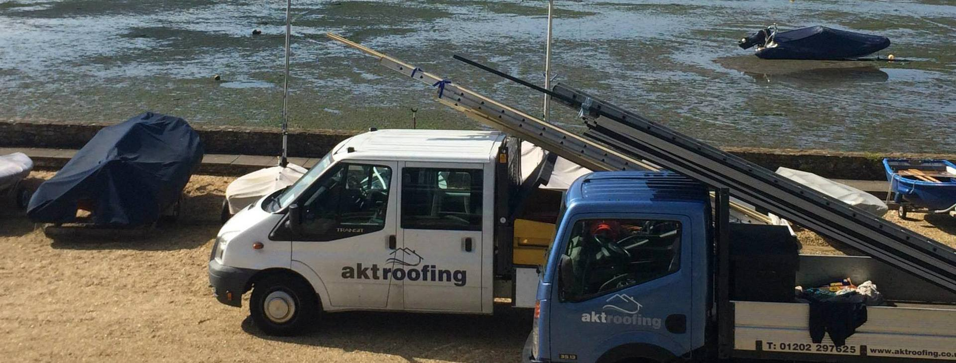 AKT Roofing service vehicle