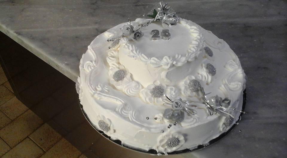 torta nozze d'argento