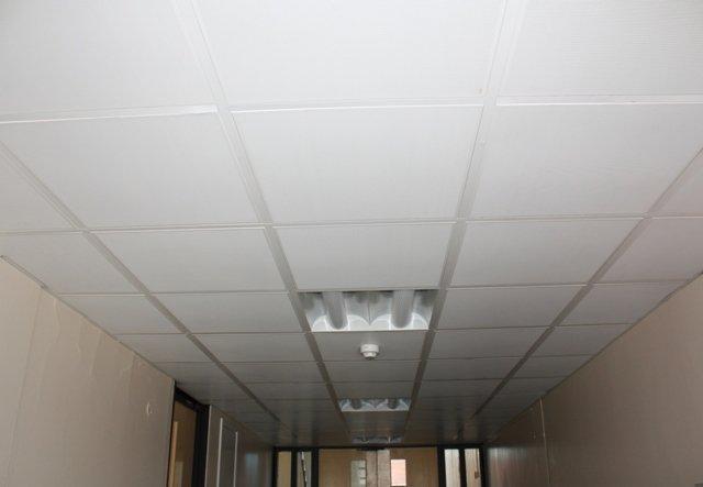 University of Essex: New metal suspended ceiling to corridor