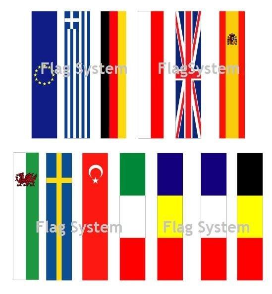 Bandiere verticali nazioni