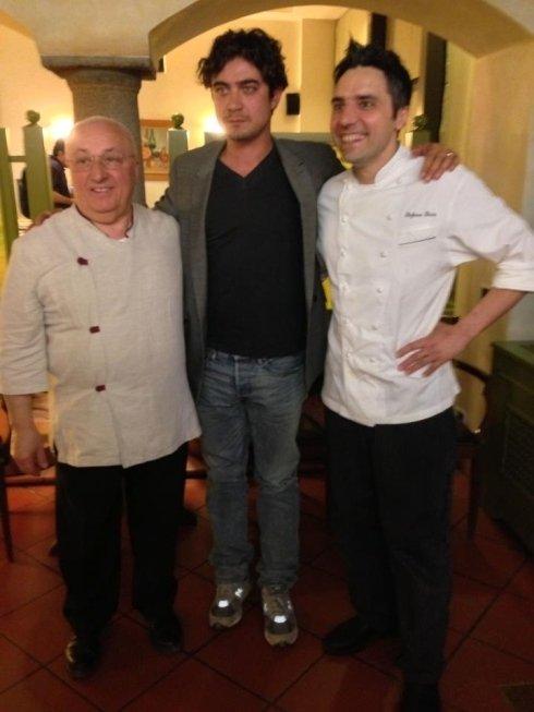 Riccardo Scamarcio, ristorante la colonna, cucina di pesce, cucina creativa, ristorante piacenza