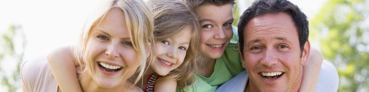 Family who visits our dentist clinic in Mornington