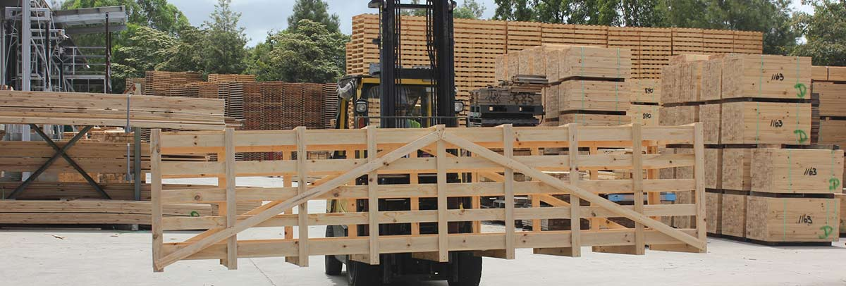 sealpal pallets and crates forklift moving the pallet