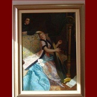 quadro donna arpa