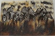 dipinto zebre