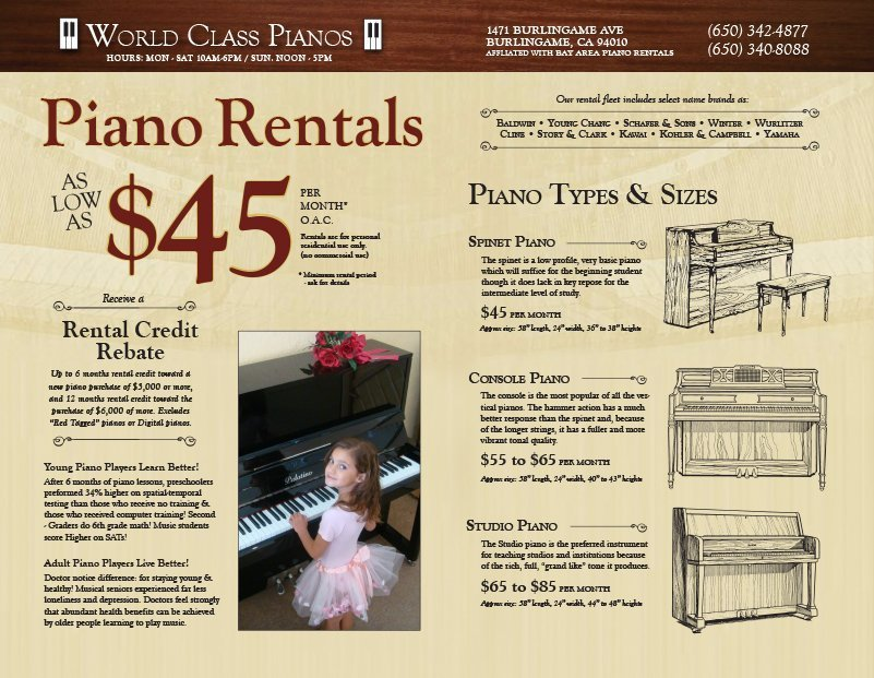 Piano Store San Mateo, CA
