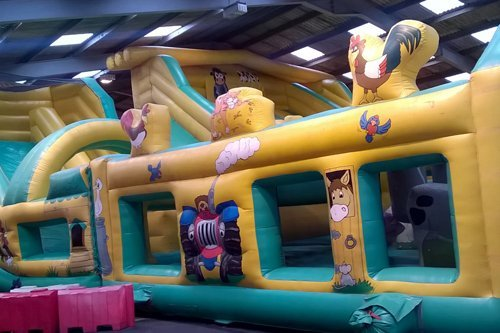 View of fun games at the fun park in Durham