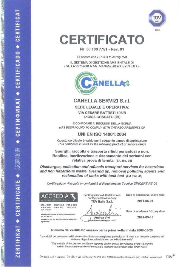 Certificazione ISO spurghi